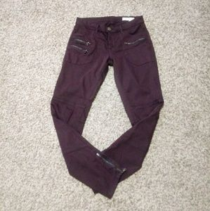 Blank NYC Deep Purple Moto Ankle Zipper Pants 27